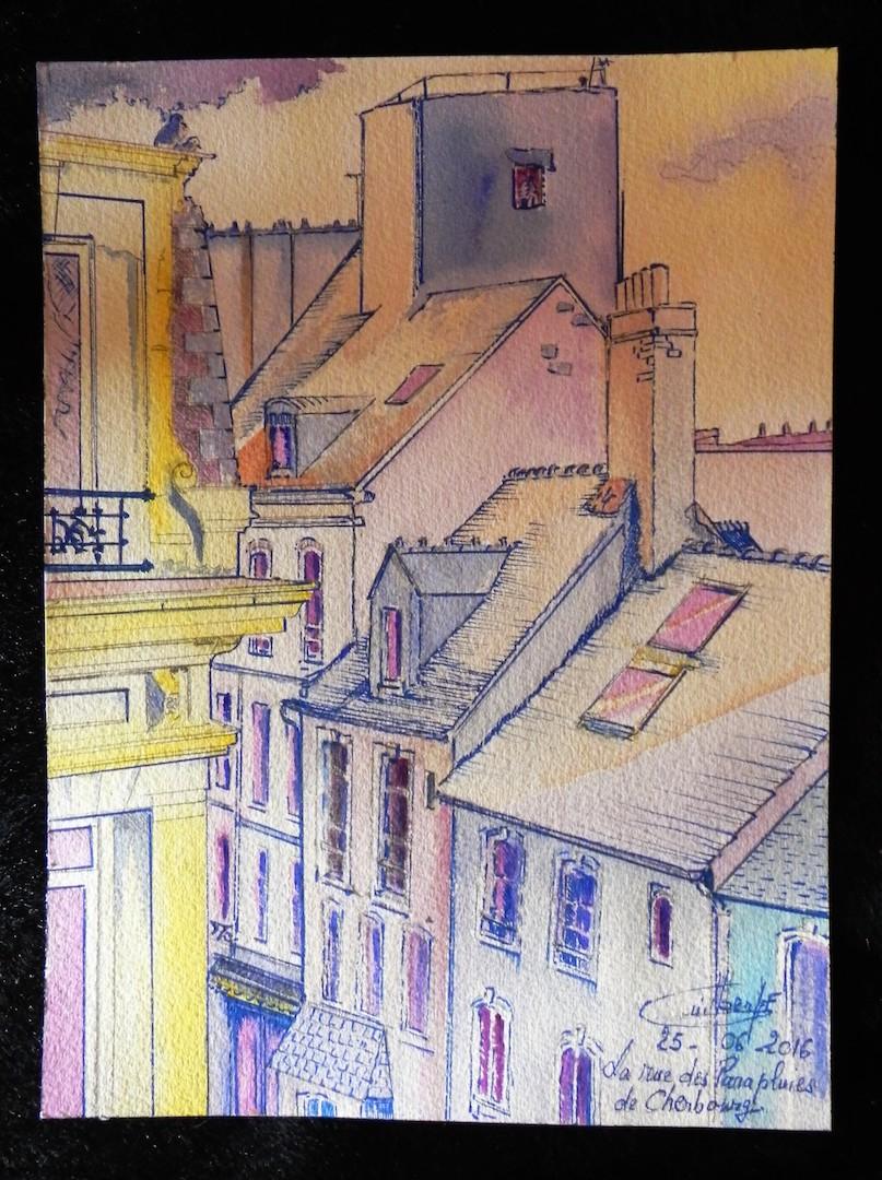 La rue des Parapluies de Cherbourg