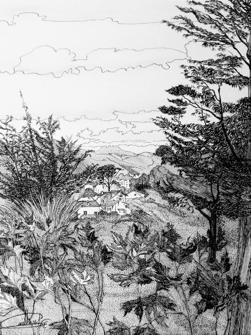 Pays Basque, vue de St Jean (la Mamounia)