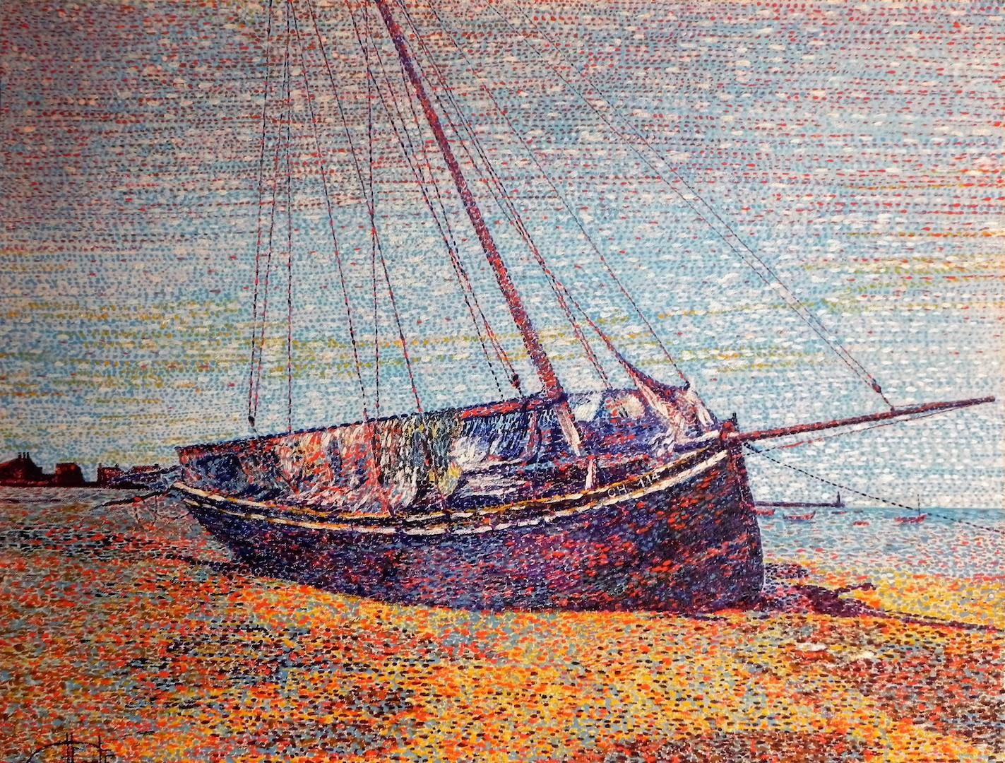 Mât-barque Grandcopais à l'échouage